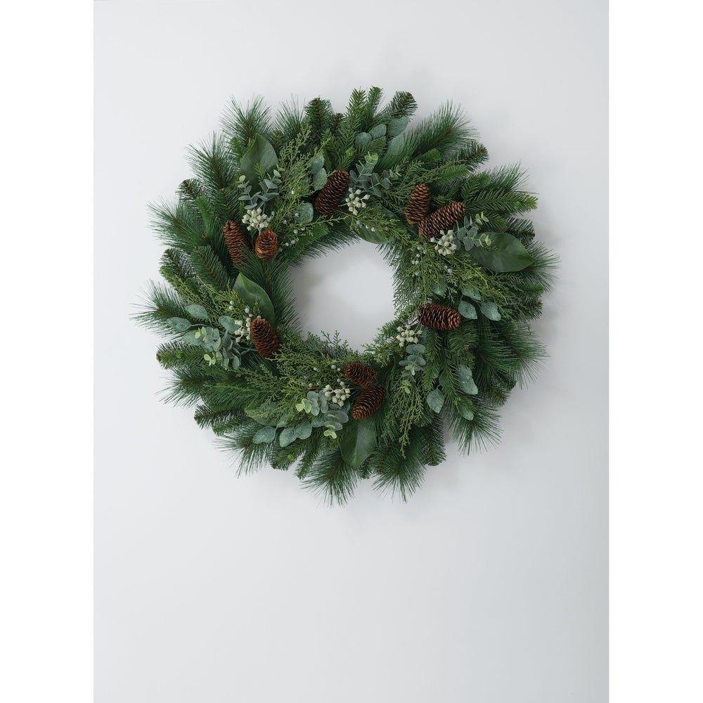 Photo of Mix Pine Eucalyptus Wreath, Green, Sullivans(Plastic)