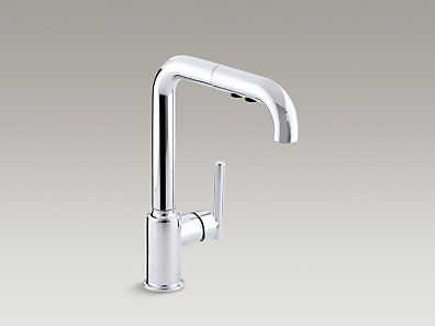 Kohler  K7505Cp  Purist® Singlehole Kitchen Sink Faucet Alluring Single Hole Kitchen Faucet Inspiration Design