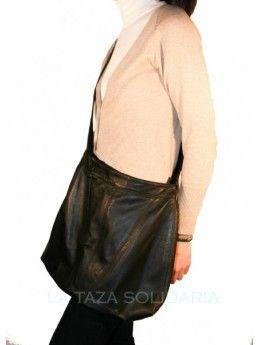 una Bolso en bandolera Forro a piel negro negra imitación prenda medidas partir toro Cinta en diferentes de ajustable ropa a piel confeccionado de r8rCEq
