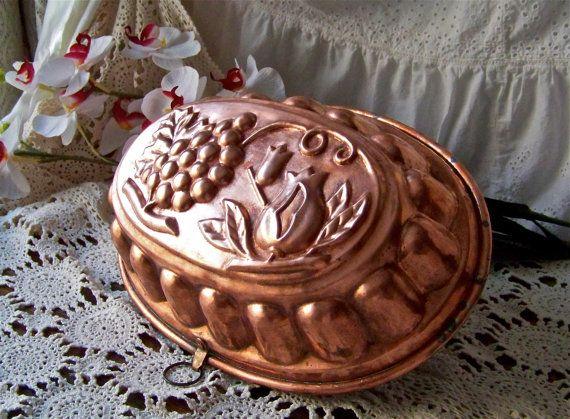 Antique Copper Mold Solid Copper Mould Kitchenware Copper Wall