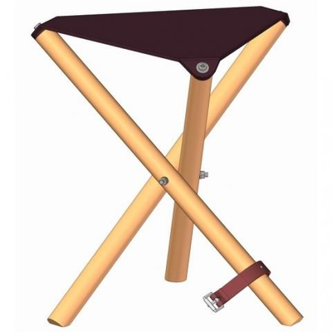Wooden fishing folding stool plan. Variation to compare to Tripod Camp Stool