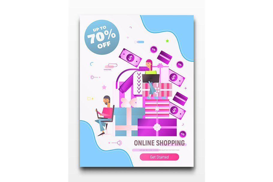 Online Shopping Poster In 2020 Online Shop Design Banner Design Banner Online