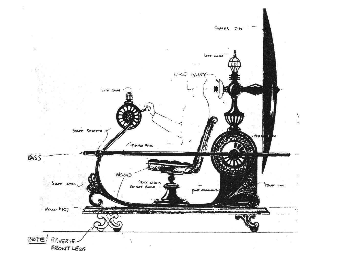 Blueprint Time Machine sideview, made by William Ferrari | The Time