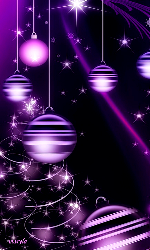 Purple sparkly ornament wallpaper wallpapers - Purple christmas desktop wallpaper ...