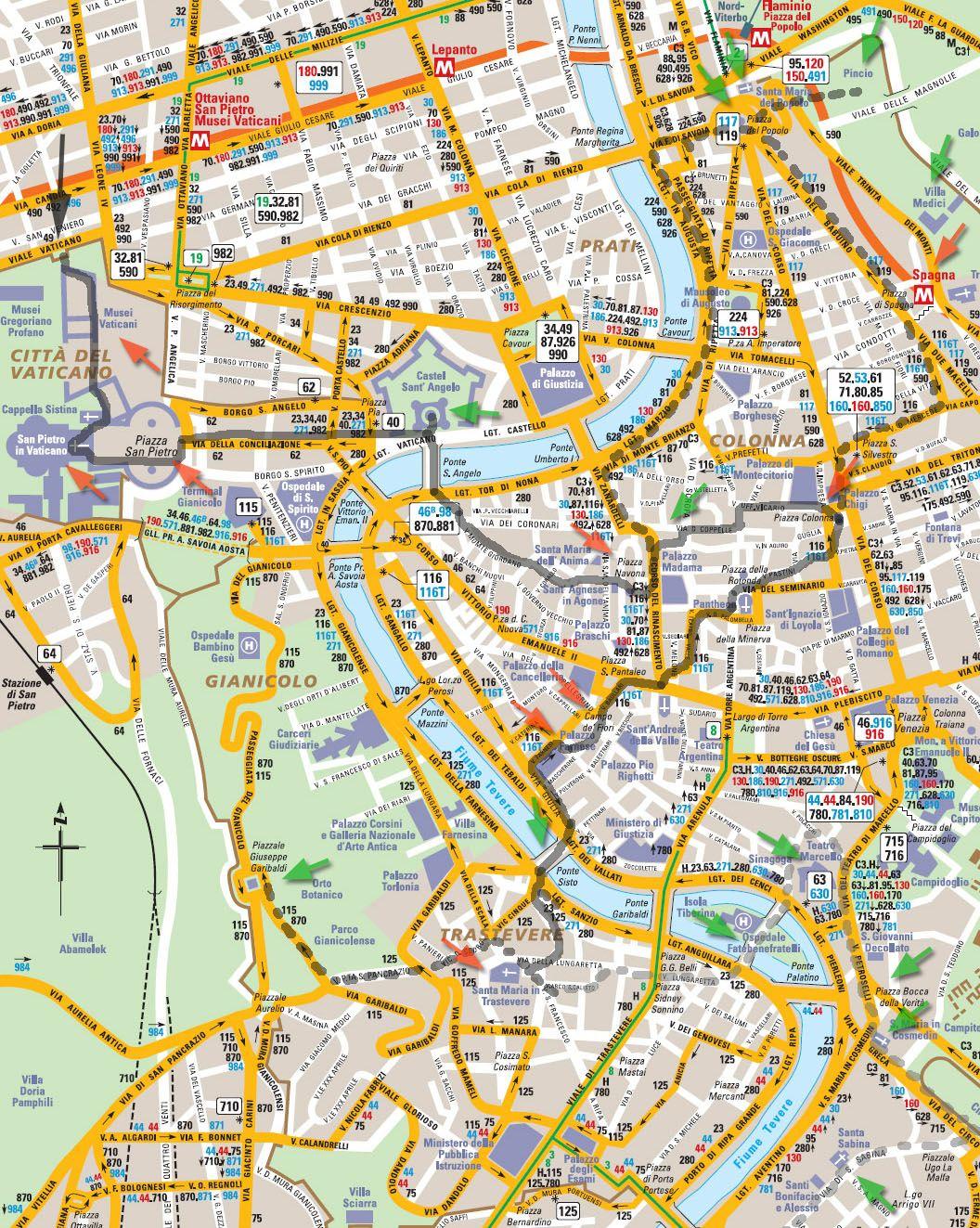 Visite De Rome En Deux Jours Proposition Ditineraire Imprimable Avec Carte Suggestions Et Informations Complementaire Telecharger Le Programme