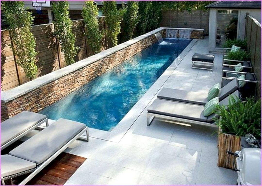 8 Minimalist Pool Ideas For Awesome Backyard Design Teracee Lap Pools Backyard Backyard Pool Designs Small Pool Design