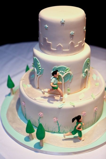 Running Themed Weddings Running Theme Wedding Cake