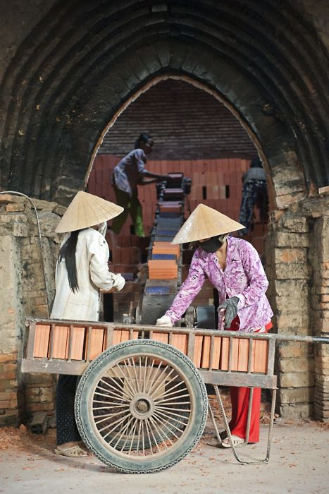 Making Bricks by Hand ~ Vietnam