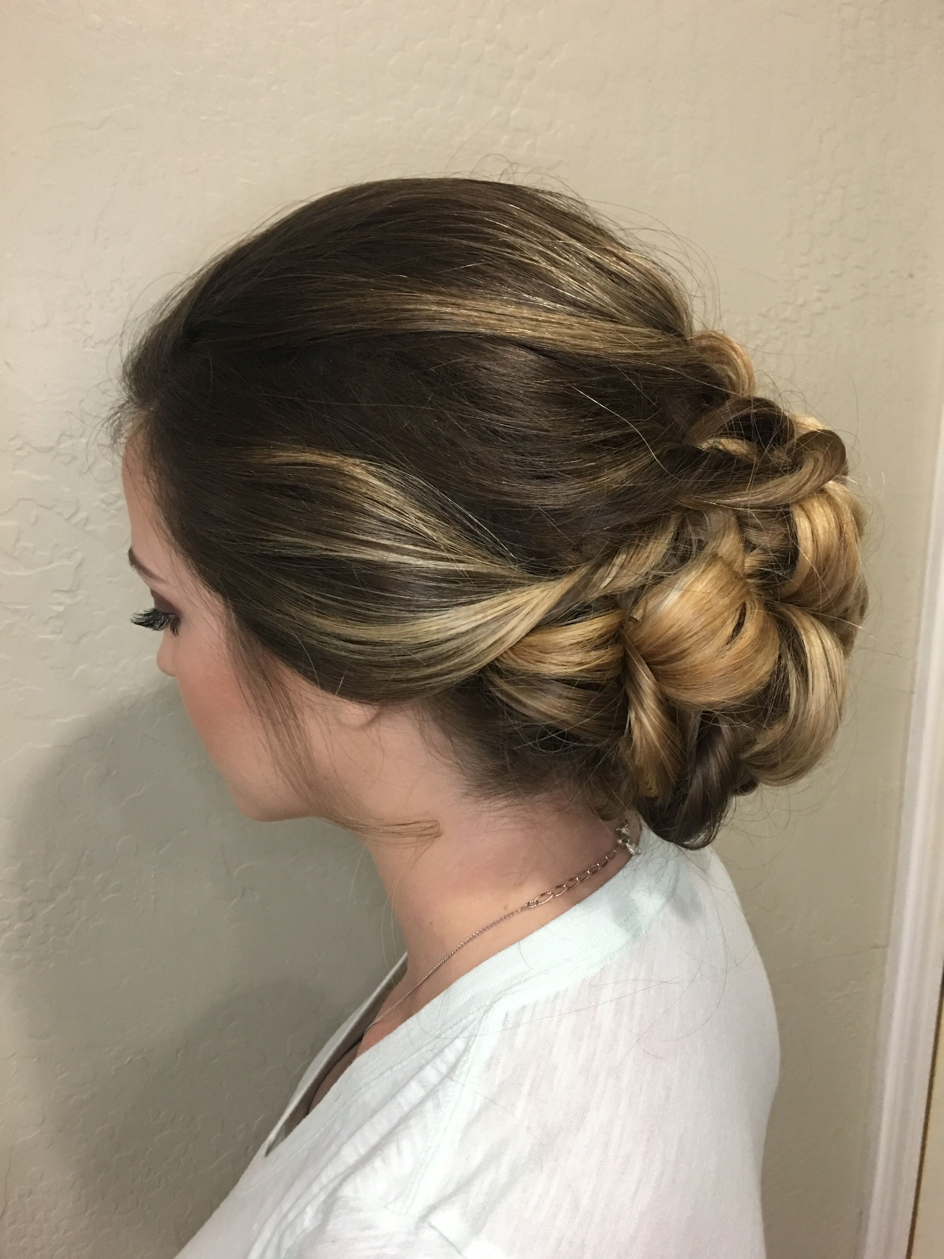 Updo, bridal hairstyle, wedding hair, bridesmaids hair, low bun ...