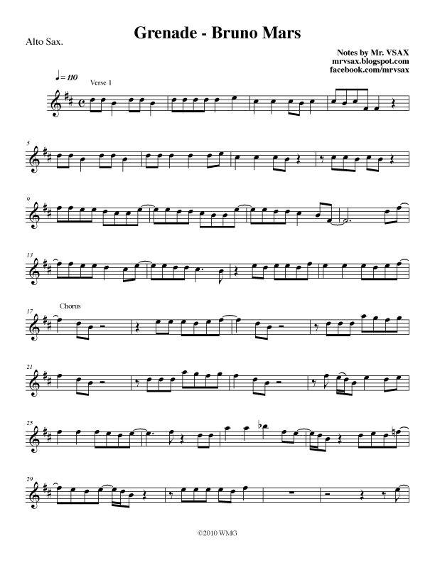 Alto Sax Sheet Music Let Her Go - let her go sheet music