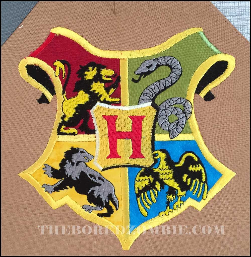 Block 30 Phew! I do love this Embroidered Hogwarts crest and now ...