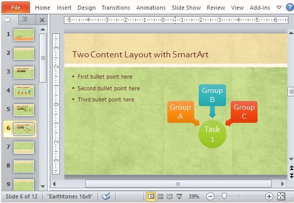 Widescreen Earth Tone Presentation Template For Powerpoint