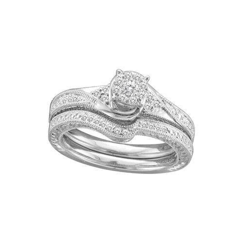 14 carat tw diamond bridal set in sterling silver - Walmart Jewelry Wedding Rings