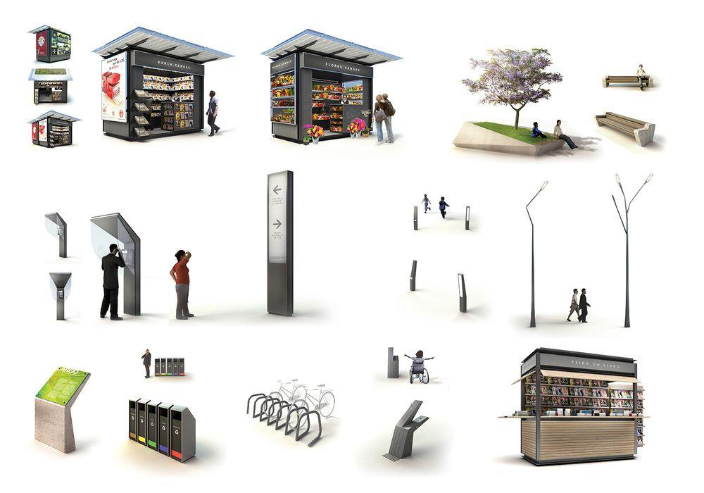 Mader mobiliario urbano mobiliario pinterest for Mobiliario urbano tipos
