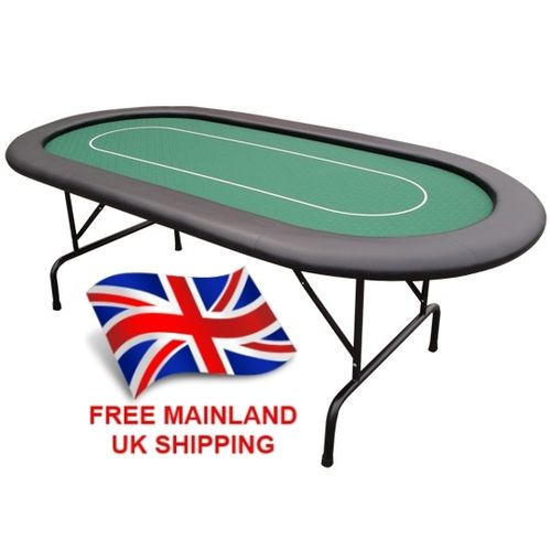 10 Person Pro Table With Folding Metal Legs And Betting Line Green 199