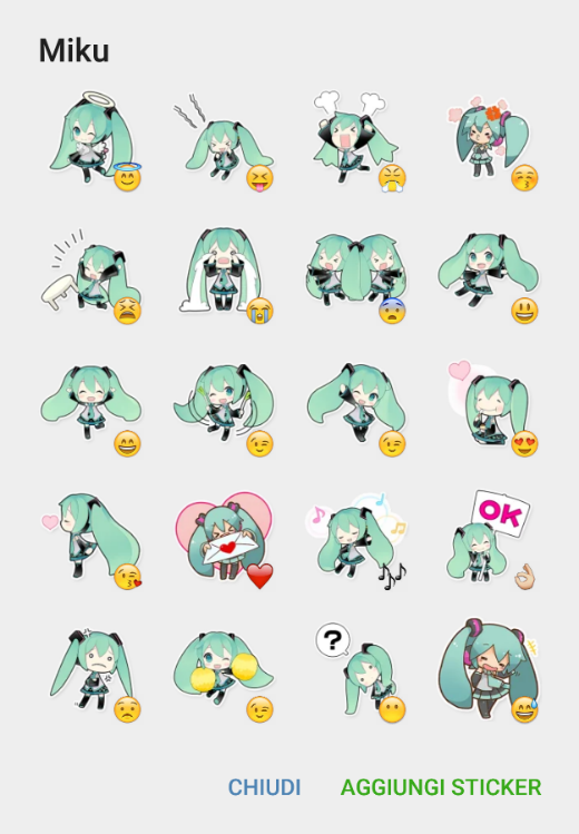 Hatsune Miku Sticker Pack Removed Telegram Stickers Library Miku Hatsune Miku Telegram Sticker Pack