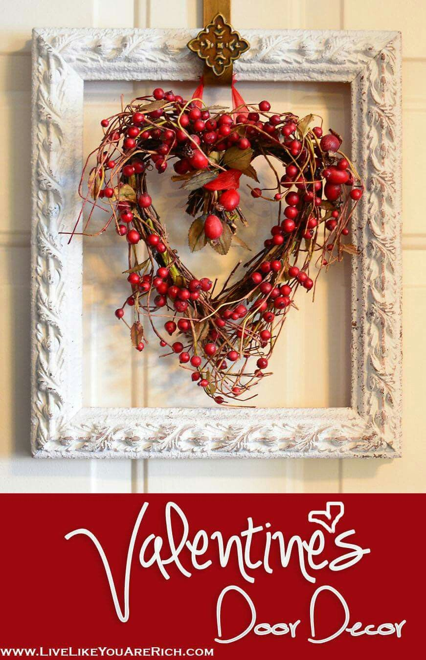 Pin By Judith Johnson On Holiday Decorations Valentine Door Decorations Diy Valentines Decorations Diy Valentine S Day Decorations