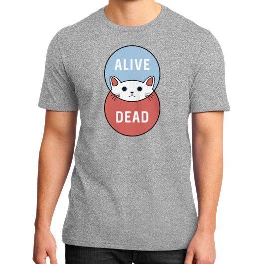 Schrodinger's Cat District T-Shirt (on man)