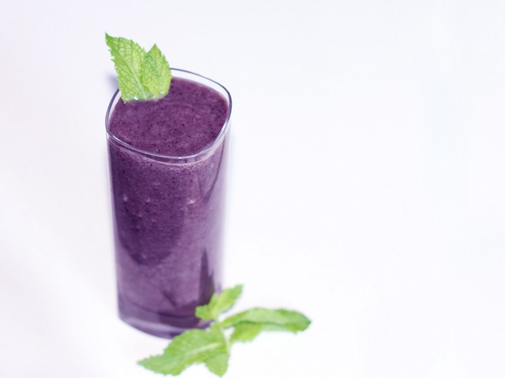 Blueberry Celery Smoothie with Coconut Water  by Wishful Chef