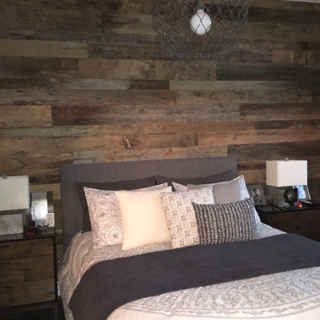 Rustic Bedroom Wall Ideas 150 Wood accent wall bedroom