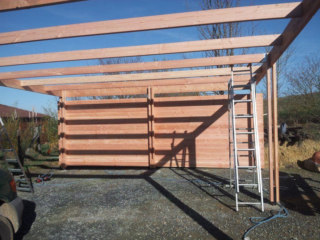 construction d 39 un carport mono pente en bois bricolage. Black Bedroom Furniture Sets. Home Design Ideas