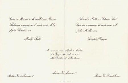 Esempi Partecipazioni Classiche Nozze Matrimonio Matrimoni A Tema
