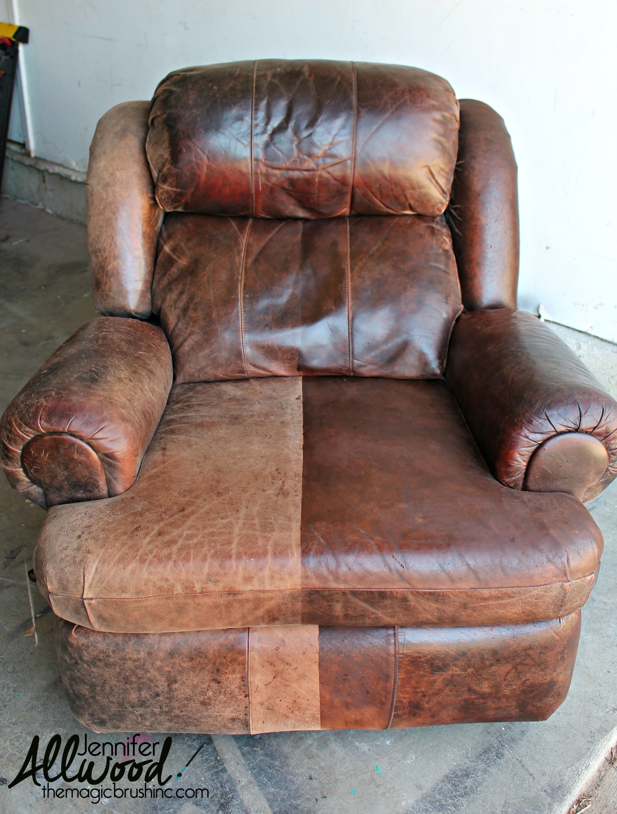 Sofa Leather Repair Toronto Leather Paint Diy Painted Restored Furniture Painting