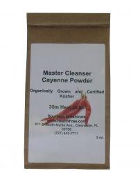 Master Cleanser Cayenne Powder- a milder Cayenne but still HOT.