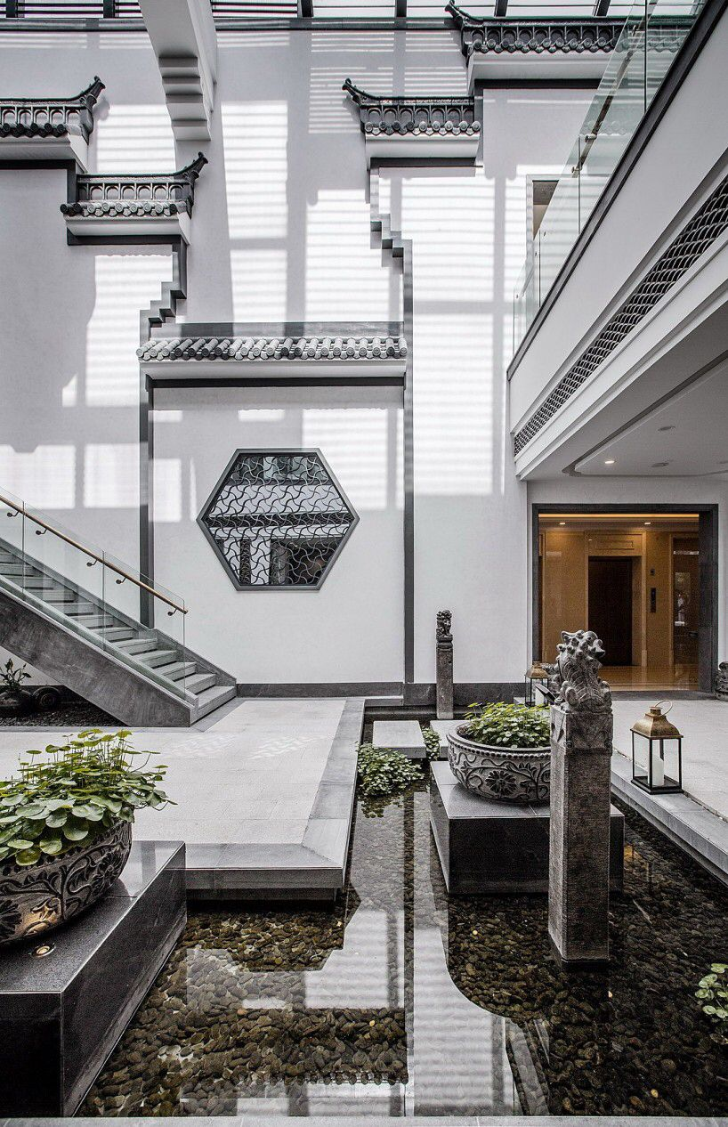 Modern Asian Interior With Natural Materials: 滨湖万达文旅城 On Behance