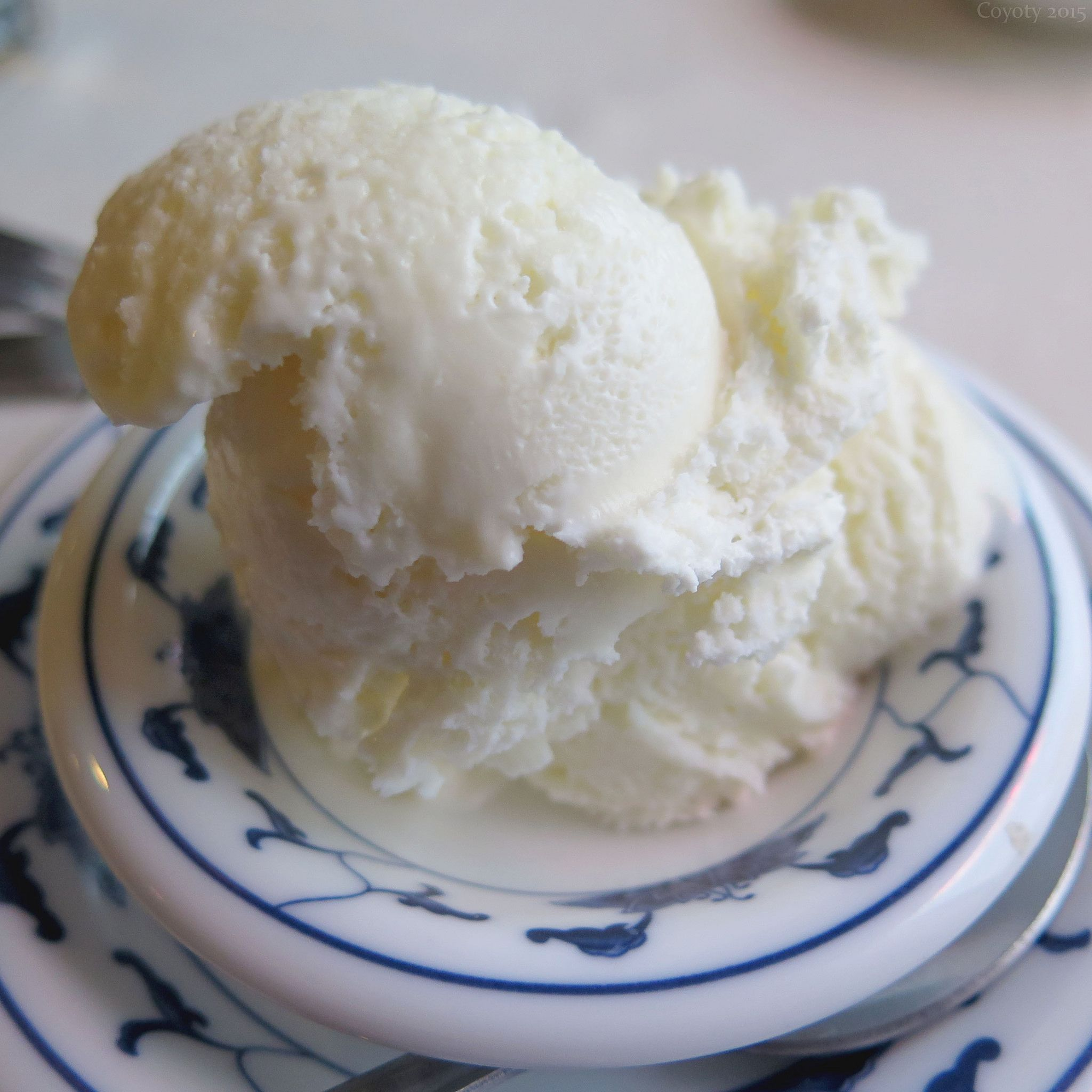 https://flic.kr/p/ChwBzc | Coconut ice cream | At Wang Chinese Restaurant in Cromwell, CT.