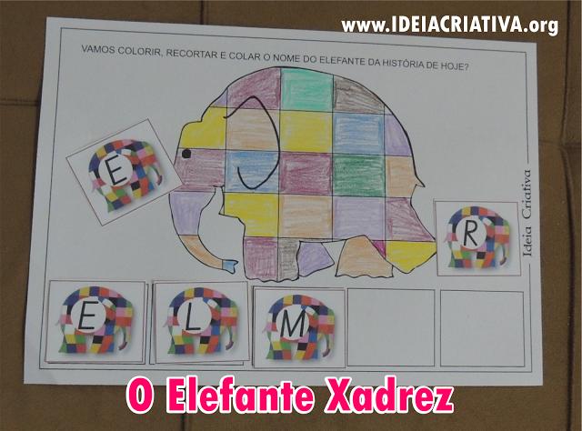 Atividade Elmer O Elefante Xadrez Educação Infantil