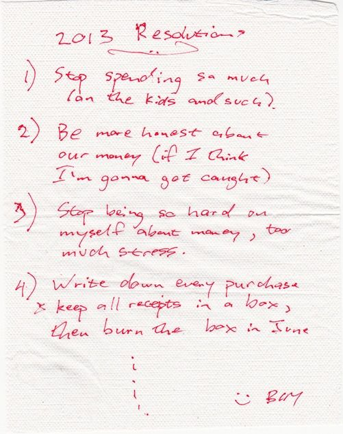 Possibly My 2013 New Year Resolutions (but don't tell Mrs. C8j)