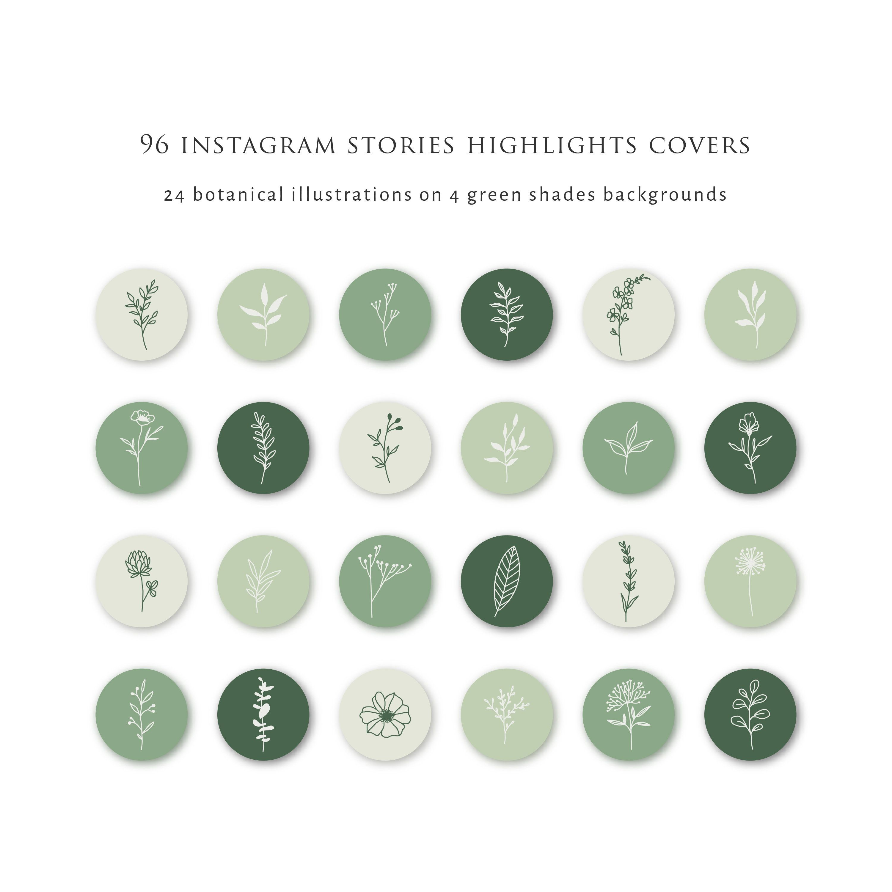 Instagram Stories Highlight Icons Botanical Instagram Highlight Covers Green Background Instagram Template Hand Drawn Instagram Icons In 2020 Instagram Icons Instagram Template Instagram Story