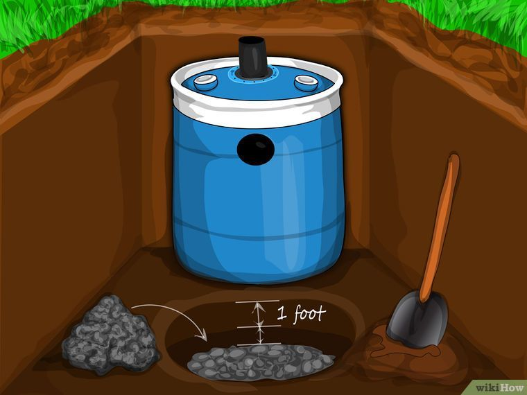 Construct a small septic system diy septic system