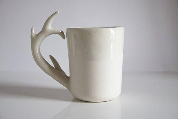 Ceramic Deer Antler Mug