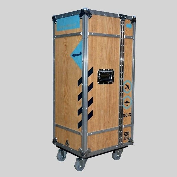 Multicase Wood Tempelhof Flightcase Design Schrank Rollcontainer Holz Rollcontainer Design
