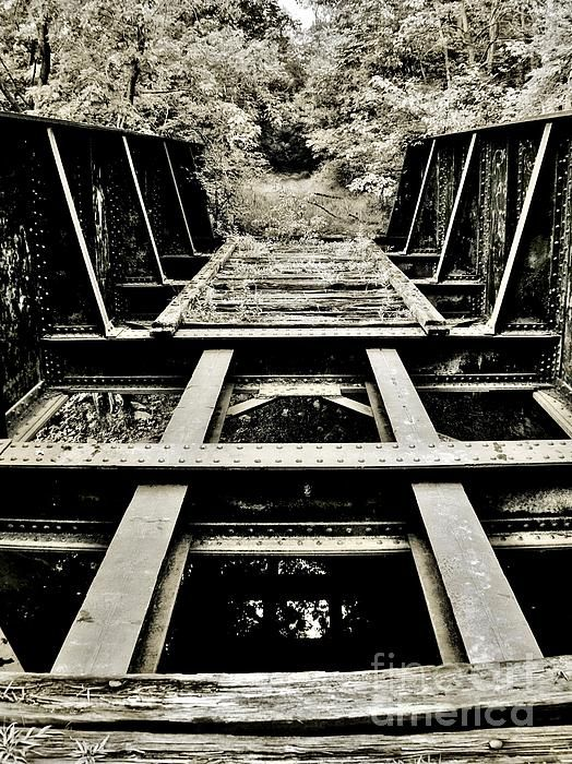 The Train Trestle In Washingtonville by Chet B Simpson
