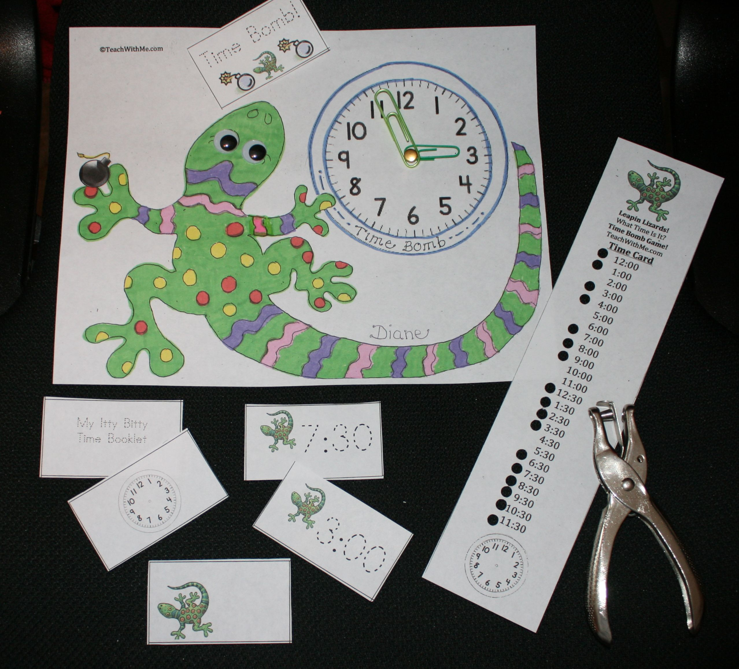 Free Leapin Lizards Time Game Can Also Make An Itty