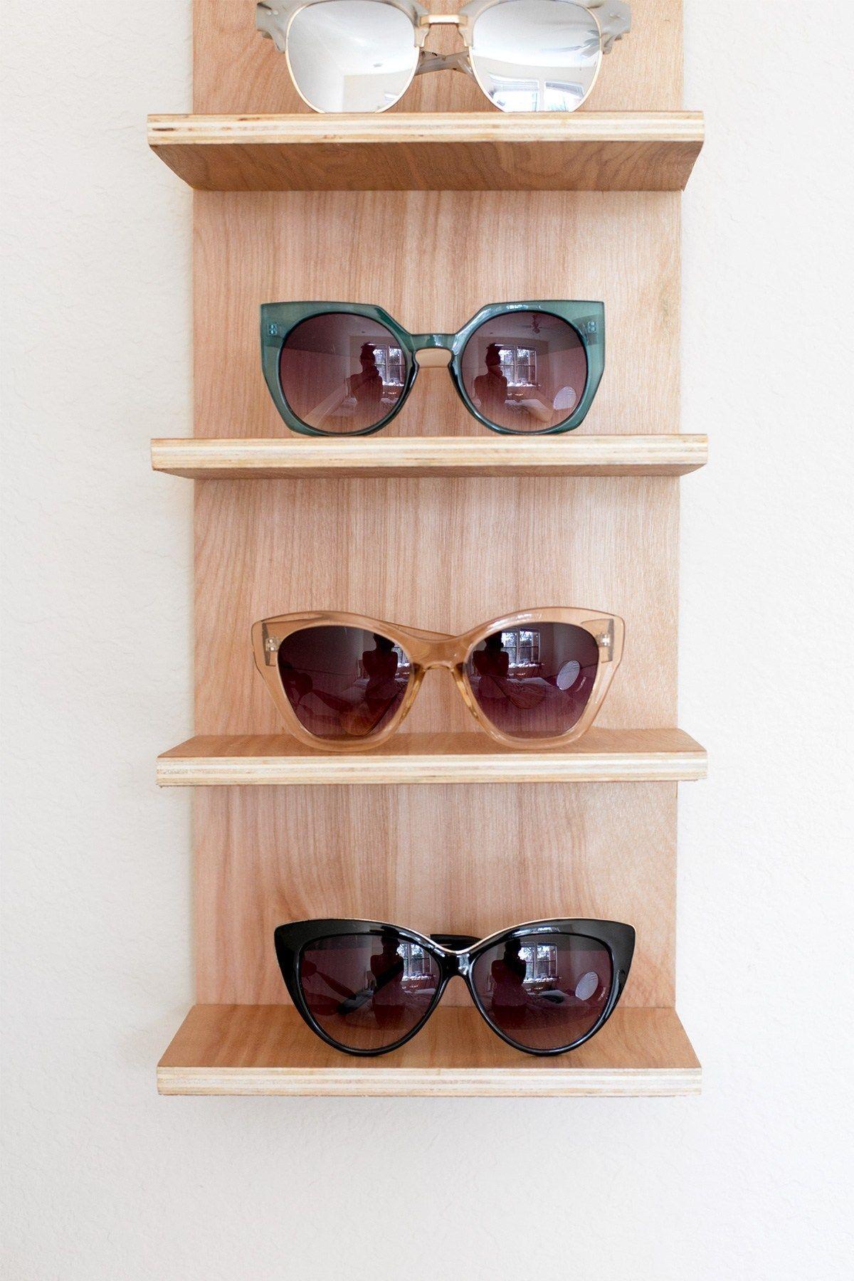 Renter Friendly Diy Sunglasses Holder For End Of Summer Storage Ctrl Curate Diy Sunglasses Holder Sunglass Holder Diy Sunglasses