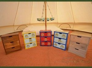 Camping with Soul Chest of Indian Drawers  Very handy drawers to put all your small belongins into. @2posh2pitch