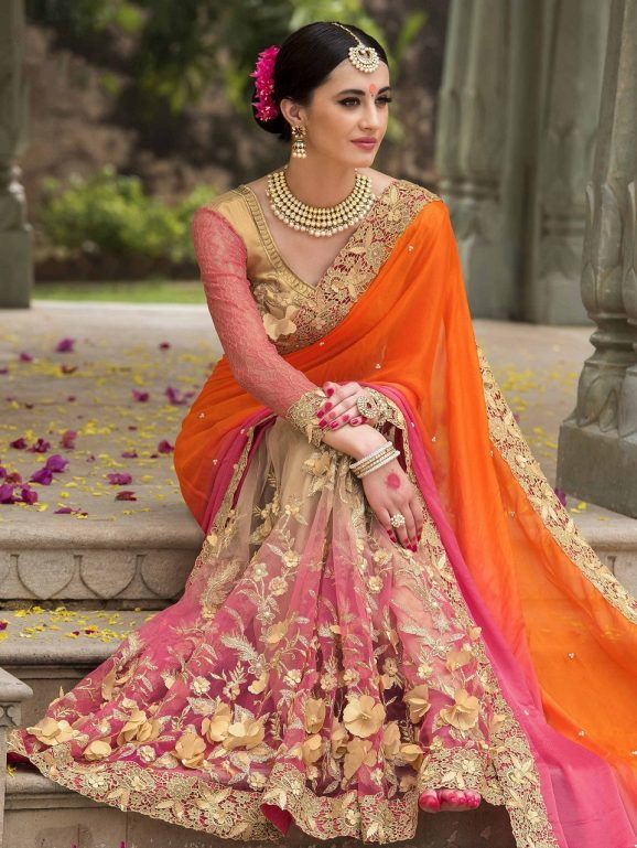Indian Wedding Saree Latest Designs Trends Collection 2017 2018 1