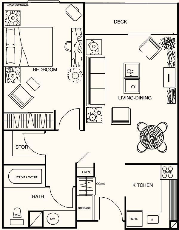 Pin By Berni S Craft Bits On House Plans 1 Bedroom House Plans House Plans Tiny House Floor Plans