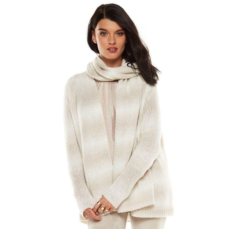 Elie Tahari for DesigNation Ombre Convertible Cardigan - Size X-Large NWT Ladies #ElieTahariforDesigNation #Cardigan