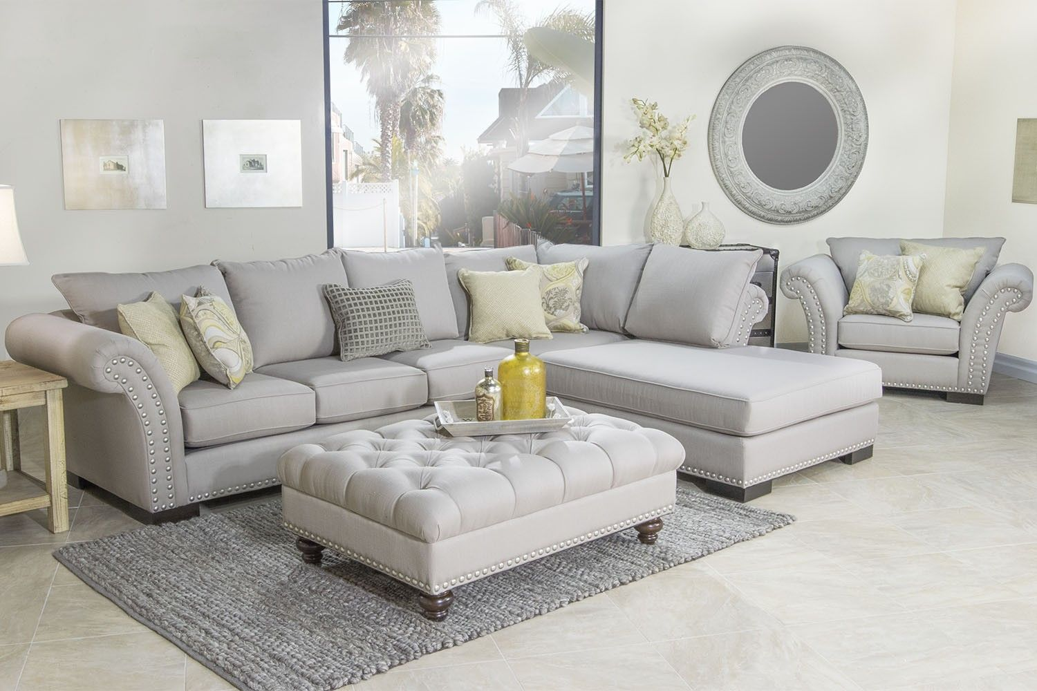 Klein Left-Facing Sectional - Sectionals - Living Room | Mor ...