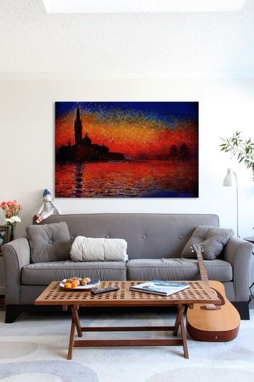 Sunset In Venice By Claude Monet Canvas Print By ICanvasART On @HauteLook
