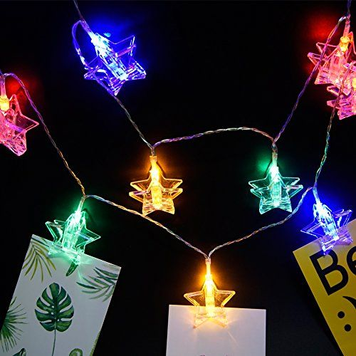 20 LED Photo Clips String Lights DIY Picture Display Battery Powered