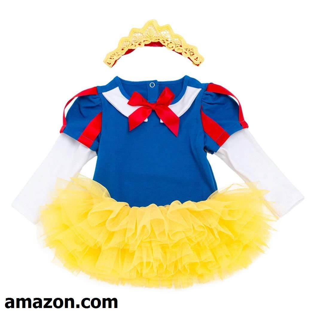 6d1747b6d Jurebecia Baby Girls Snow White Costume Bodysuit Princess Halloween ...