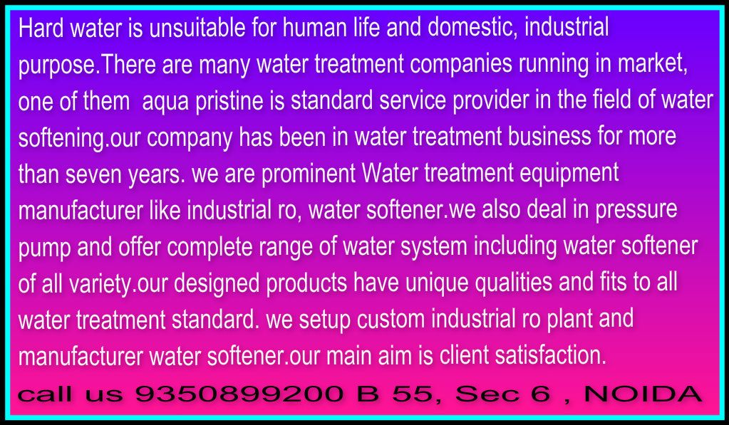 water softener manufacturer industrial ro plant pressure pump dealer