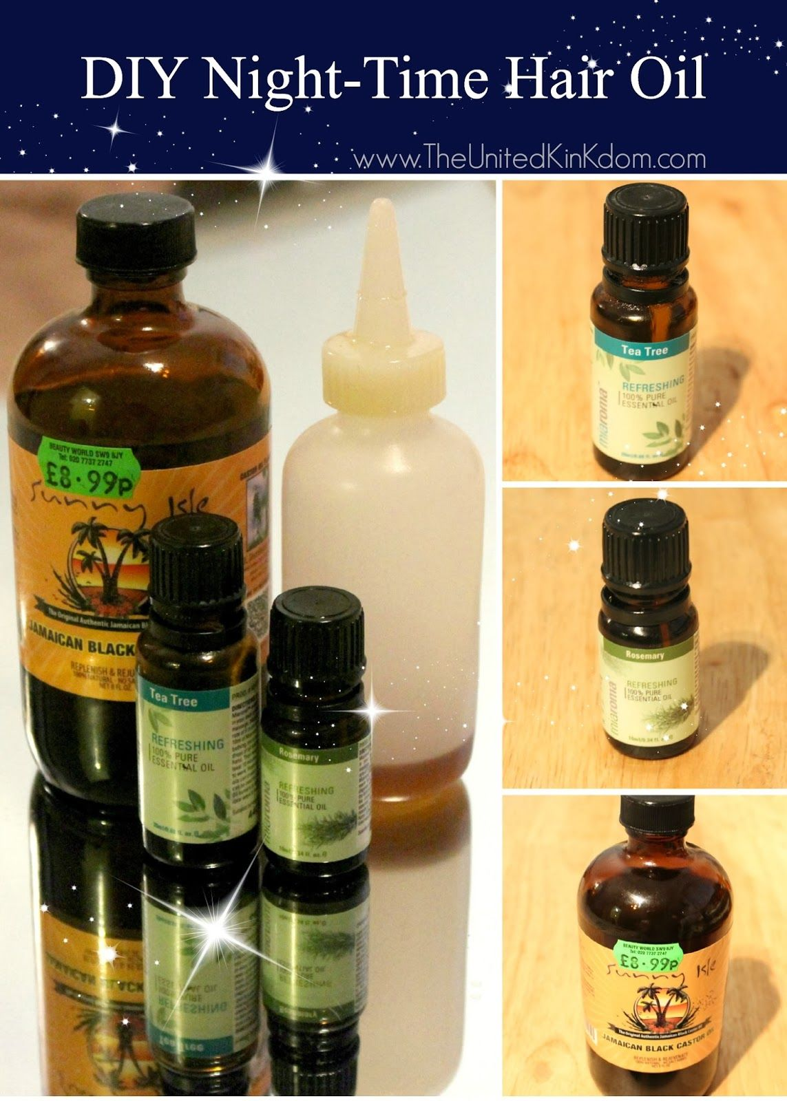 MY DIY NIGHTTIME HAIR OIL (The UNITED KinKdom) Hair oil