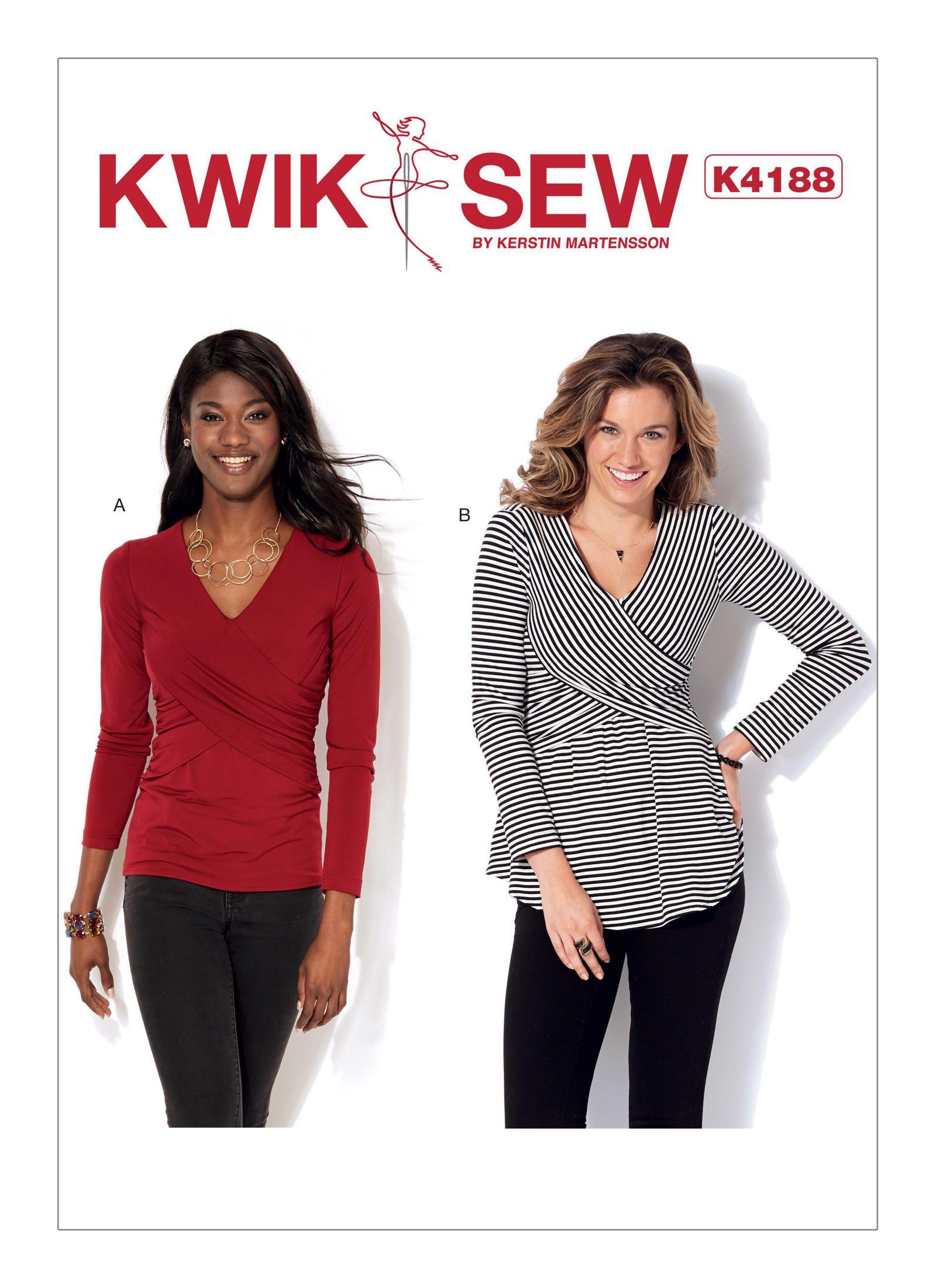 Kwik Sew 4188 Misses\' Front-Crossover Tops